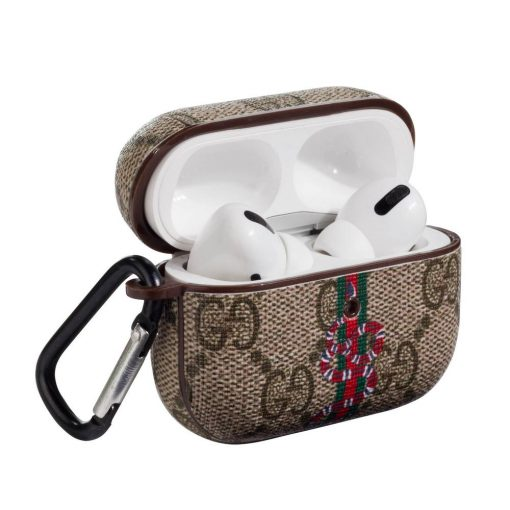Gucci Style Snake Leather Protective Case For Apple Airpods Pro - Casememe