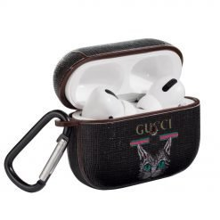 Gucci Style Cat Leather Protective Case For Apple Airpods Pro - Casememe