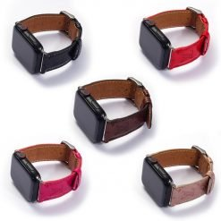 MORE COLORS Louis Vuitton Style Monogram Genuine Leather Compatible With Apple Watch 38mm 40mm 42mm 44mm Band Strap For iWatch Series 4/3/2/1 - Casememe