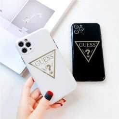 Guess Style Electroplating Glossy TPU Silicone Designer iPhone Case For iPhone 12 SE 11 Pro Max X XS XS Max XR 7 8 Plus - Casememe