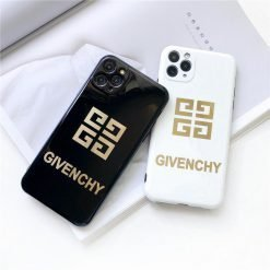 Givenchy Style Electroplating Glossy TPU Silicone Designer iPhone Case For iPhone 12 SE 11 Pro Max X XS XS Max XR 7 8 Plus - Casememe