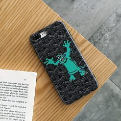 Goyard x Monster University Style Black Designer iPhone Case For iPhone X XS XS Max XR 7 8 Plus - Casememe