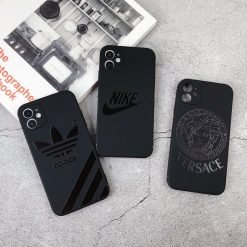 Adidas Style Silicone Shockproof Protective Designer iPhone Case For iPhone 12 SE 11 Pro Max X XS Max XR 7 8 Plus - Casememe