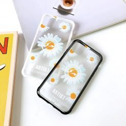 Daisy Clear Tempered Glass Shockproof Protective Designer iPhone Case For iPhone SE 11 Pro Max X XS Max XR 7 8 Plus - Casememe