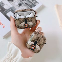 Gucci Style Bee Hard Protective Case For Apple Airpods 1 & 2 & Pro - Casememe