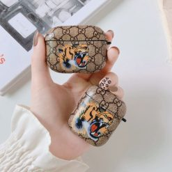 Gucci Style Tiger Hard Protective Case For Apple Airpods 1 & 2 & Pro - Casememe