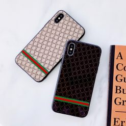 Gucci Style  Classic Glossy Shockproof Protective Designer iPhone Case For iPhone 12 SE 11 Pro Max X XS Max XR 7 8 Plus - Casememe
