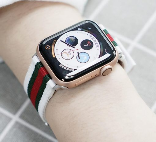 GC Style Modern Nylon Leather Hybrid Compatible With Apple Watch 38mm 40mm 42mm 44mm Band Strap For iWatch Series 4/3/2/1 - Casememe
