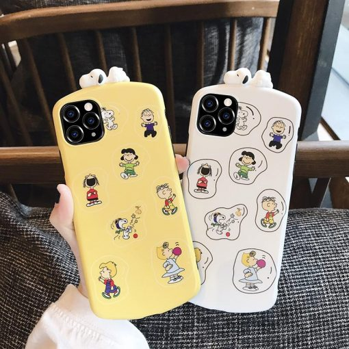 3D Snoopy Style Round Corner Shockproof Protective Designer iPhone Case For iPhone SE 11 Pro Max X XS Max XR 7 8 Plus - Casememe