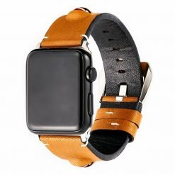 3D Eye Yellow Leather Compatible With Apple Watch 38mm 40mm 42mm 44mm Band Strap For iWatch Series 4/3/2/1 - Casememe