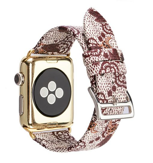 GC Style Bee Leather Compatible With Apple Watch 38mm 40mm 42mm 44mm Band Strap For iWatch Series 4/3/2/1 - Casememe