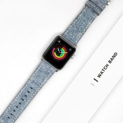Blue Jeans Leather Modern Compatible With Apple Watch 38mm 40mm 42mm 44mm Band Strap For iWatch Series 4/3/2/1 - Casememe