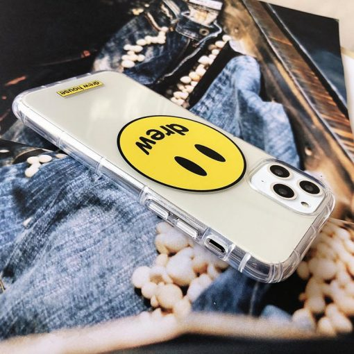 Drew House Style Clear Silicone Shockproof Protective Designer iPhone Case For iPhone 12 SE 11 Pro Max X XS Max XR 7 8 Plus - Casememe