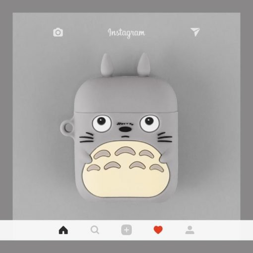 Totoro Black Bear Silicone Protective Shockproof Case For Apple Airpods 1 & 2 - Casememe