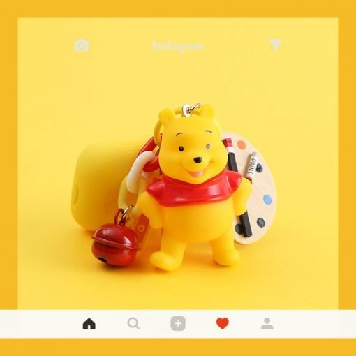 Winnie The Pooh Painter Silicone Protective Shockproof Case For Apple Airpods 1 & 2 - Casememe