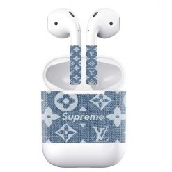 Supreme Luxury Style Jeans AirPods Skin Sticker Adhesive Protective Decal For Apple AirPods 1 & 2 - Casememe