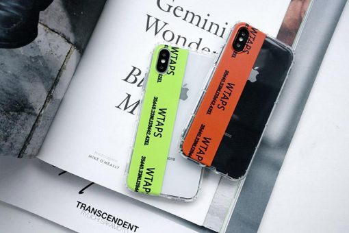 WTAPS Style Clear Soft SiliconeShockproof Protective Designer iPhone Case For iPhone SE 11 Pro Max X XS Max XR 7 8 Plus - Casememe