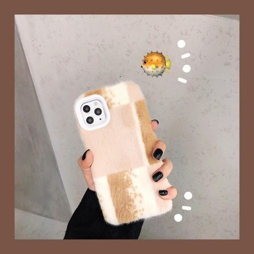 Minimalism Furry Shockproof Protective Designer iPhone Case For iPhone SE 11 Pro Max X XS Max XR 7 8 Plus - Casememe