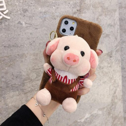 Piggy Toy Furry Shockproof Protective Designer iPhone Case For iPhone 11 Pro Max X XS Max XR 7 8 Plus - Casememe