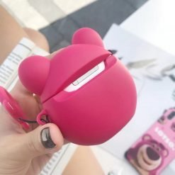 Lots-O-Huggin Bear Style Strawberry 3D Silicone Designer Protective Shockproof Case For Apple Airpods 1 & 2 - Casememe