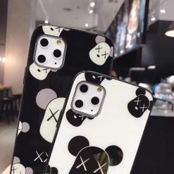 KAWS Style Glossy Shockproof Protective Designer iPhone Case For iPhone SE 11 Pro Max X XS Max XR 7 8 Plus - Casememe