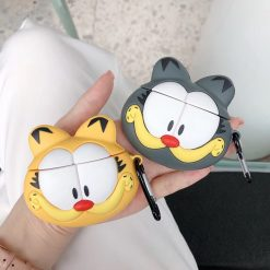 Garfield Style Cat Face Silicone Protective Shockproof Case For Apple Airpods 1 & 2 - Casememe