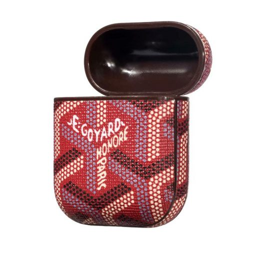 Goyard Style Leather Classic Protective Shockproof Case For Apple Airpods 1 & 2 - Casememe