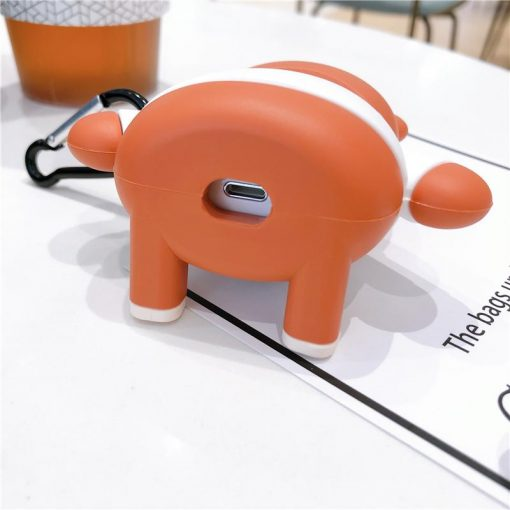 Moschino Style Teddy Bear Silicone Protective Case For Apple Airpods 1 & 2 - Casememe