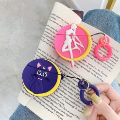 Sailor Moon Style Luna Black Cat Silicone Protective Shockproof Case For Apple Airpods 1 & 2 - Casememe