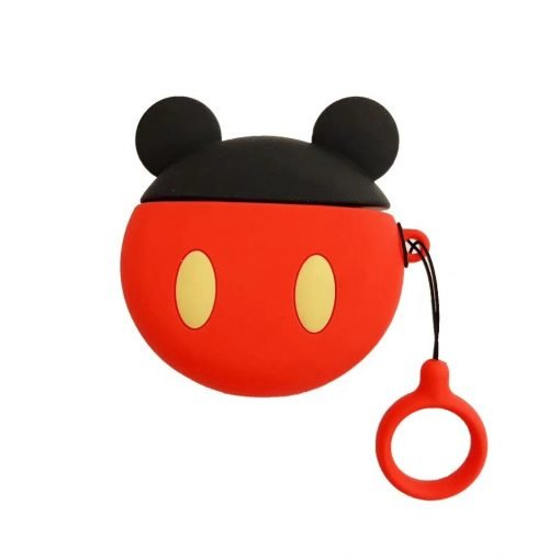 Disney Style Mickey Minnie Mouse Round Silicone Protective Shockproof Case For Apple Airpods 1 & 2 - Casememe