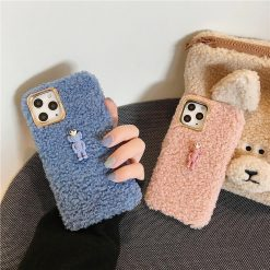 KAWS Style Cute Toy Furry Shockproof Protective Designer iPhone Case For iPhone 11 Pro Max X XS Max XR 7 8 Plus - Casememe