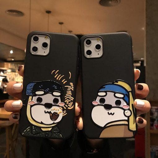 Funny Bear Matte Silicone Shockproof Protective Designer iPhone Case For iPhone 11 Pro Max X XS Max XR 7 8 Plus - Casememe