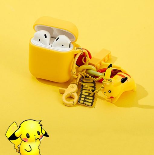 Pikachu Style Keychain Silicone Protective Case For Apple Airpods 1 & 2 - Casememe