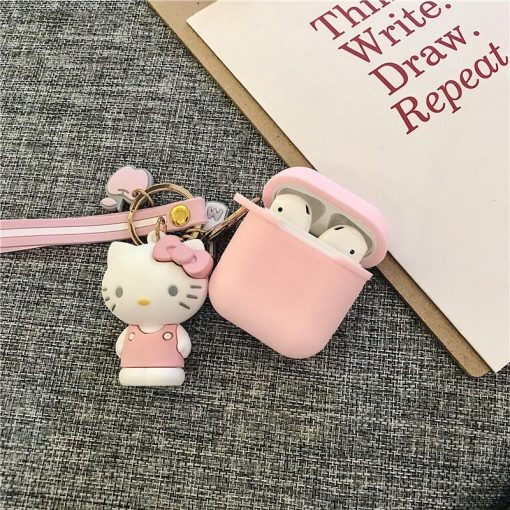 Melody Hello Kitty Silicone Protective Shockproof Case For Apple Airpods 1 & 2 - Casememe
