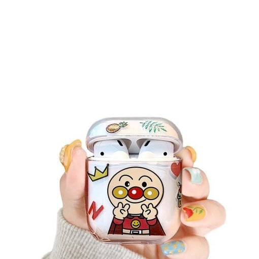 Anpanman Style Clear Hard Protective Case For Apple Airpods 1 & 2 - Casememe