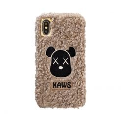 KAWS Style Furry Shockproof Protective Designer iPhone Case For iPhone SE 11 Pro Max X XS Max XR 7 8 Plus - Casememe