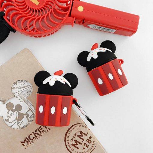 Minnie Mouse Style Ice Cream Silicone Protective Case For Apple Airpods 1 & 2 - Casememe