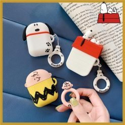 Snoopy Style Charles Silicone Protective Shockproof Case For Apple Airpods 1 & 2 - Casememe