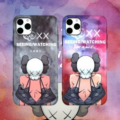 KAWS Style Silicone Shockproof Protective Designer iPhone Case For iPhone SE 11 Pro Max X XS Max XR 7 8 Plus - Casememe