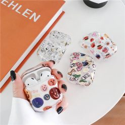 Smile Snoopy Simpsons Clear Hard Protective Shockproof Case For Apple Airpods 1 & 2 - Casememe