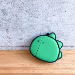 Green Dinosaur Cute Silicone Protective Shockproof Case For Apple Airpods 1 & 2 - Casememe