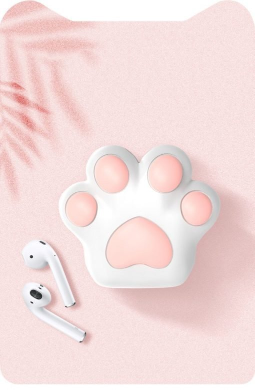 Cute Pink Paw Silicone Protective Shockproof Case For Apple Airpods 1 & 2 - Casememe