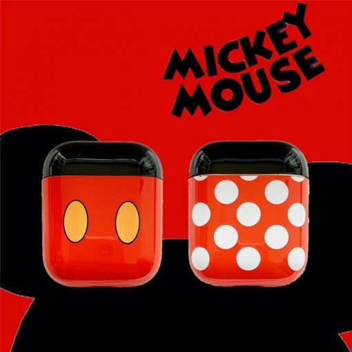 Micky Minni Mouse Disney Style Protective Shockproof Case For Apple Airpods 1 & 2 - Casememe
