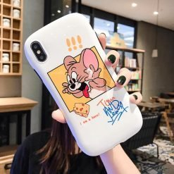 Tom And Jerry Style Round Coner Silicone Shockproof Protective Designer iPhone Case For iPhone SE 11 Pro Max X XS Max XR 7 8 Plus - Casememe