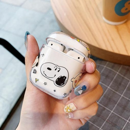 Snoopy Style Clear Hard Protective Case For Apple Airpods 1 & 2 - Casememe