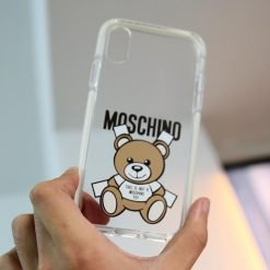 Moschino Style Clear Silicone Shockproof Protective Designer iPhone Case For iPhone 12 SE 11 Pro Max X XS Max XR 7 8 Plus - Casememe