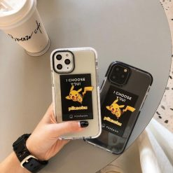 Pikachu Style Clear Silicone Shockproof Protective Designer iPhone Case For iPhone SE 11 Pro Max X XS Max XR 7 8 Plus - Casememe