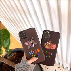 Tom And Jerry Style Matte Silicone Shockproof Protective Designer iPhone Case For iPhone 11 Pro Max X XS Max XR 7 8 Plus - Casememe