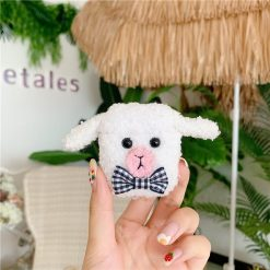 Cute Sheep Lamb Furry Protective Case For Apple Airpods 1 & 2 - Casememe