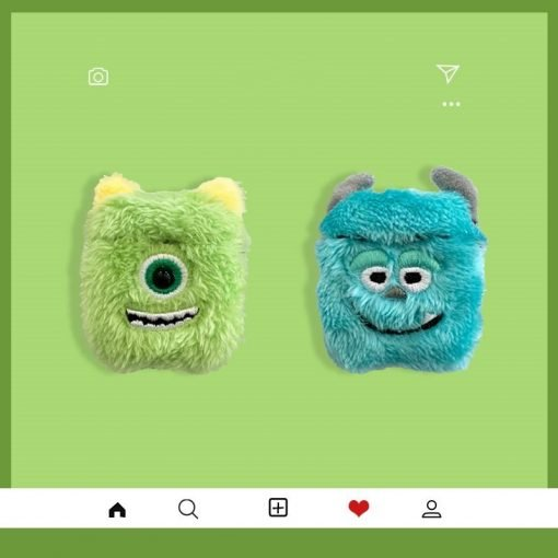 Monster University Style Furry Protective Case For Apple Airpods 1 & 2 - Casememe